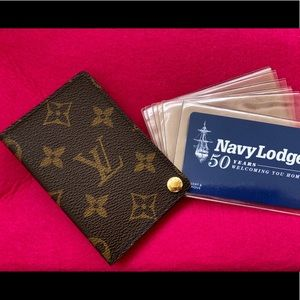 Authentic Louis Vuitton credit card and ID holder